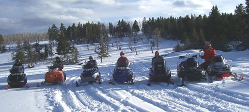 Monana snowmobile vacation